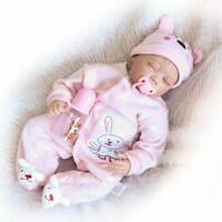"Handmade Reborn Newborn Sleeping Doll Lifelike Silicone Baby Girl Doll Vinyl22"""