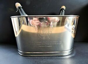 Silver Plated Style Napoleon Lily Bollinger Champagne Cooler/Ice Bucket