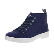 Dr.Martens Lace-Up Coburg II Navy Waffle Cotton Blue