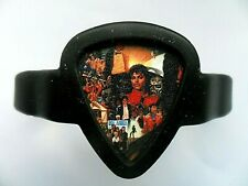 Guitar Pick Silicon Bracelet / Holder with a MICHAEL JACKSON  Pick