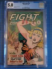 FIGHT COMICS #58 Tiger Girl, CGC VG/FN 5.0, Jack Kamen-a, Fiction House (1948)