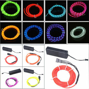 Car Decoration EL Wire Lights Soft Flash Strip Lamp Switch Controller Control