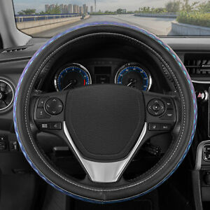 Sharper Image Iridescent Wave Car Steering Wheel Cover Universal Fit