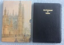 Cambridge French Morocco Leather KJV New Testament & Psalms Bible w/slipcase