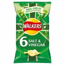 Walkers Salt & Vinegar Crisps 6x25g