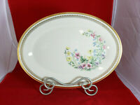 LENOX Flower Song Oval Serving Platter 13 inch