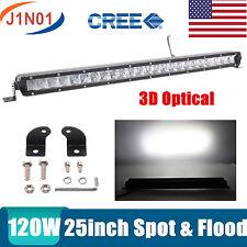 "25INCH 120W CREE SLIM SINGLE ROW LED LIGHT BAR 4WD SUV OFFROAD ATV UTE BOAT 20"""