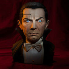 UNIVERSAL MONSTERS Classic Drácula Bela Lugosi tamaño real 1/1 Bust Black Heart