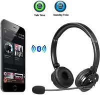 Bluetooth Headset with Microphone Wireless Headphones for iPhone Trucker Driver