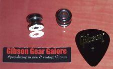 Dunlop Relic Strap Buttons Lock Chrome Guitar Parts ES SG Custom V Project Pick