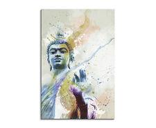 90x60cm Paul Sinus Splash Art Gemälde Kunstbild Buddha II