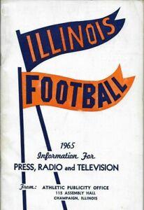 1965 FIGHTING ILLINI FOOTBALL MEDIA GUIDE, JIM GRABOWSKI, EX, Original