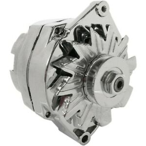 NEW ALTERNATOR CHROME CHEVY 110A 3-Wire Setup 65-85 240-203-3DC 7127-105C 10SI