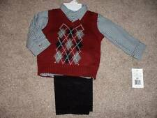 Great Guy Baby Boys Argyle 3pc Vest Set Size 18 Months 18M NWT Dress Clothes