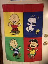 New listing Vintage Snoopy Woodstock Charlie Brown Linus Lucy Peanuts Outdoor Flag