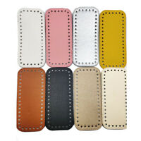 Rectangle Bottom Knitting Synthetic Leather with Hole Bag DIY Crochet Accessory
