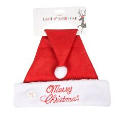Light up Santa Hat Father Mother Christmas Festive Office Party Xmas Merry