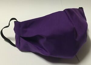 3 LAYERS PURPLE washable cotton face mask TRIPLE cloth fabric BREATHABLE