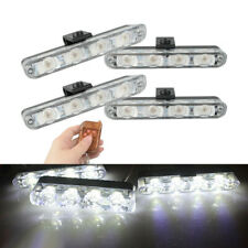 4pcs/Set 12V Auto Strobe Lights High Power LED White Lamps For Cars Motorcycle