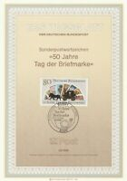 GERMANY 16 OCTOBER 1986 STAMP DAY FIRST DAY PRESENTATION CARD SHS