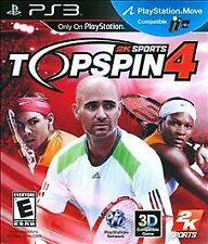 TOP SPIN 4 PS3! MOVE COMPATIBLE! TOPSPIN TENNIS! SERENA WILLIAMS, PETE SAMPRAS
