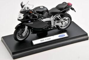 BLITZ VERSAND BMW K 1200 S  schwarz / black Welly Motorrad Modell 1:18 NEU & OVP