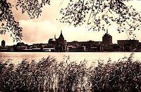 Rostock , Blick über die Warnow  ,Ansichtskarte
