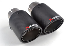 1PCS 63mm inlet 114mm outlet AKRAPOVIC Exhaust Tip Muffler Pipe Carbon Fiber