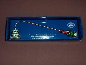 """NEW Boston Warehouse 11"""" Christmas Tree CANDLE SNUFFER Heirloom Ornament"""