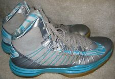 Nike Zoom Mens Hyperdunk Basketball Shoes Gray/Turquoise 524934-008 Sz 11