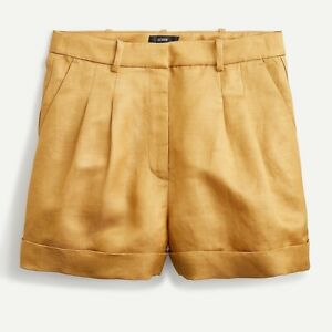Nwt J. Crew Drapey Short In Satin Faced Linen Spring 202 Size 8