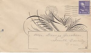 USA, 1953, Cover Domestic, calligraphic address, to Conn.