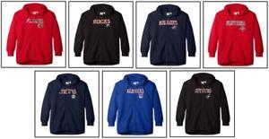 Profile Plus Size Women's NHL Team Full Zip Hoodie w/ Distress Word Mark 2X, 3X