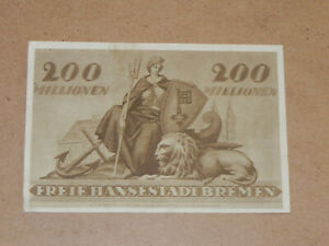 Germany-Bremen 200 Million Mark Note 1923 Lion Circulated JCcug K019