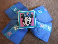 Minnie Mouse Hair Bow Accessory Vintage 1990's Collectible Blue Ribbon Barrette
