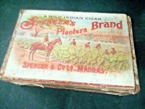 EARLY SPENEER'S PLANTERS BRAND CIGAR BOX SPENCER & CO. RARE LABEL