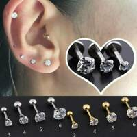 Fashion Prong Tragus Cartilage Piercing Stud Earring Ear Ring Stainless Steel