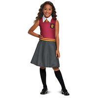 Girls Harry Potter Gryffindor Hermione Halloween Costume Uniform Dress S M L