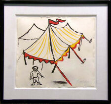 "Alexander Calder ""Circus Tent"" Hand Signed Lithograph on Paper Make an Offer !"