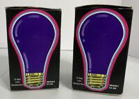 Blacklight Bulb Vintage 1997 Spencer Gifts 75 Watt 120 V Standard Base Lot Of 2