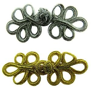 FROG FASTENERS and BUTTON CLOSURES - CHOOSE FROM VARIOUS COLOURS & SIZES