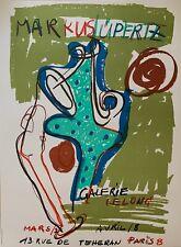Markus Lupertz affiche lithographie Mourlot art abstrait abstraction Lüpertz