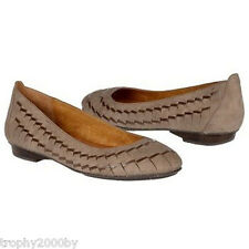 NEW ANTHROPOLOGIE TAUPE BEGONIA LEATHER FLATS SHOES BY NAYA SZ 8.5