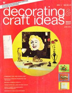 Craft Books: #1456 Decorating & Craft Ideas Magazine Vintage June 1974