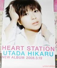 Hikaru Utada Heart Station 2008 Japan Promo Poster Rare
