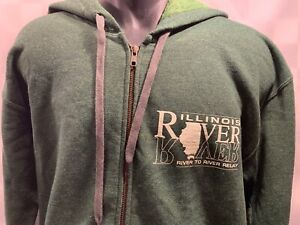 Illinois River to River Relay Green Zip Front Men's Jacket Size M