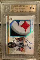 2017 National Treasures Juju Smith-Schuster Auto Patch Rc Rookie 1/1 BGS 9.5 Gem