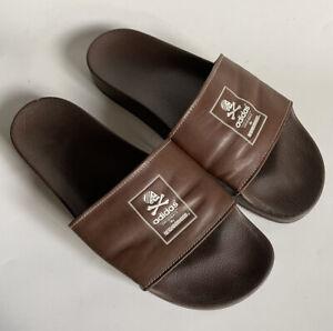 adidas originals by neighborhood mens brown adilette slide sandals size 13 US
