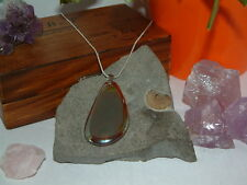 Agate Druzy Quartz Geode Stone Necklace & Pendant/on a Silver or Leather Chain