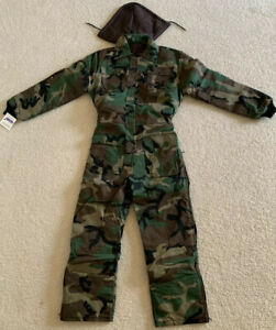 Insulated Woodland Coverall with Detachable Hood BRAND NEW MADE IN USA